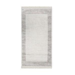 Šedobéžový sametový koberec Deri Dijital, 160x230cm