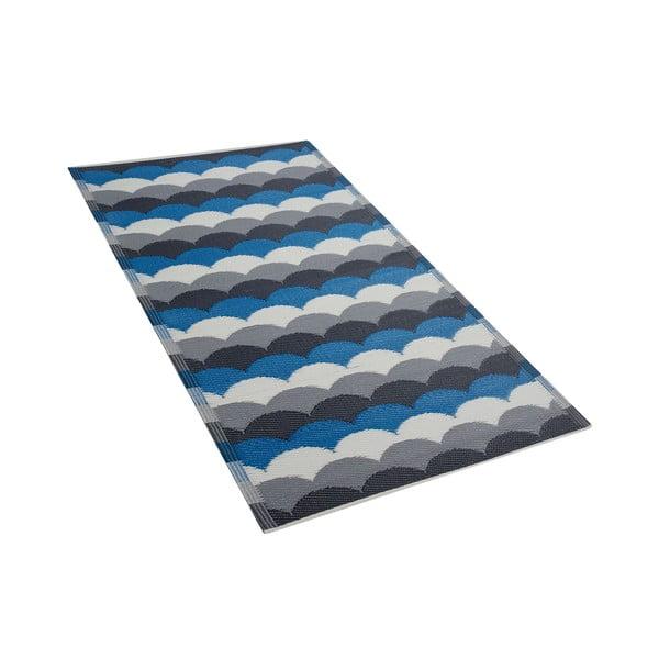 Modro-šedý venkovní koberec Monobeli Luretto, 90 x 180 cm