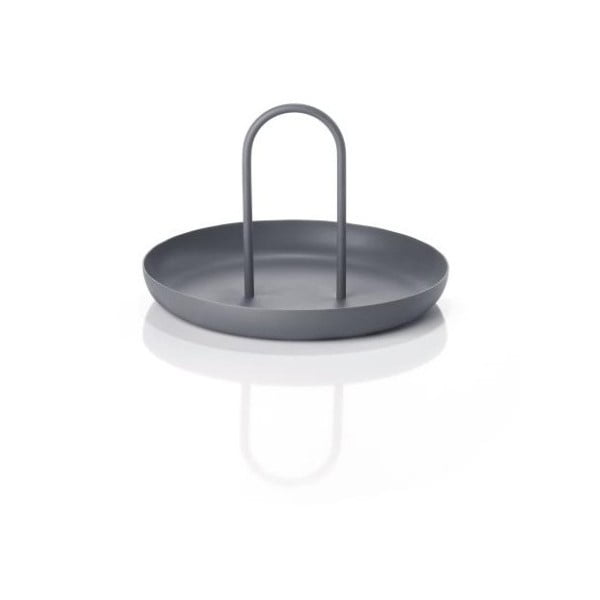 Tmavě šedý kovový servírovací tác Zone Singles, ø20cm
