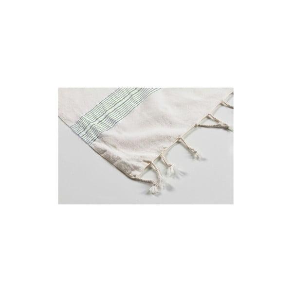 Hamam osuška Shirred Green, 100x180 cm