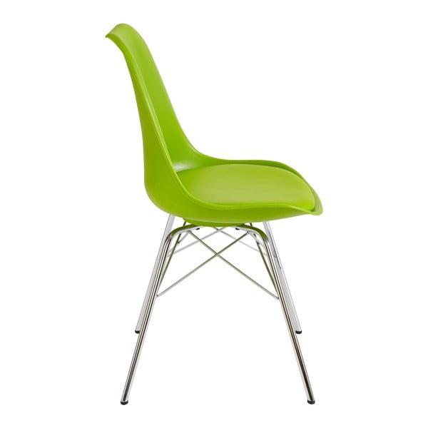 Sada 4 zelených jídelních židlí Støraa Jenny