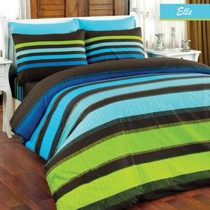Povlečení Elle Green Stripes, 160x220 cm