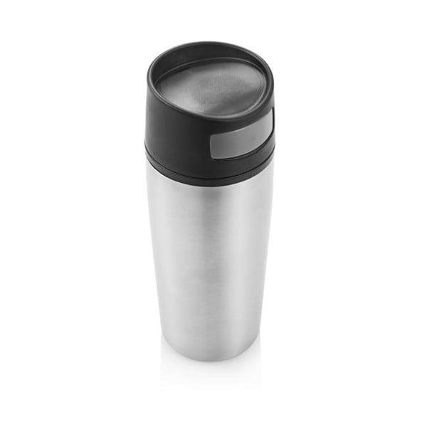 Stříbrný termohrnek do auta XD Design,300ml