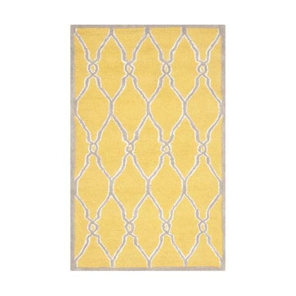 Žlutý koberec Safavieh Augusta, 243 x 152 cm