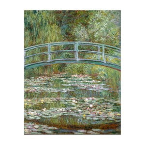 Tablou Claude Monet - Bridge Over a Pond of Water Lilies, 50x40 cm