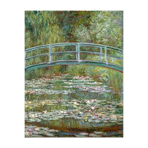 Obraz Claude Monet - Bridge Over a Pond of Water Lilies, 70x55 cm