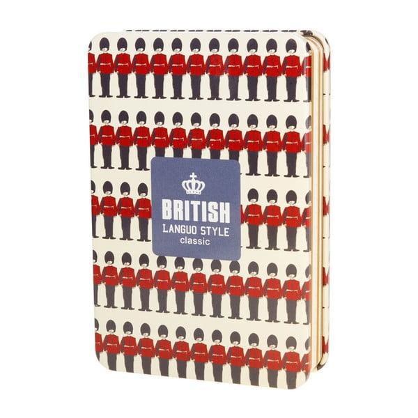 Plechový zápisník British, červený