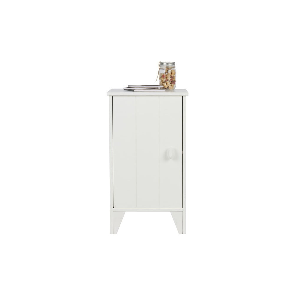Bílý dřevěný noční stolek De Eekhoorn Nikki