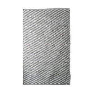 Šedo-béžový bavlněný ručně tkaný koberec Pipsa Diagonal, 140x200 cm