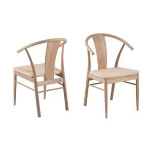 Černá jídelní židle z dubového dřeva Interstil Janik Oiled