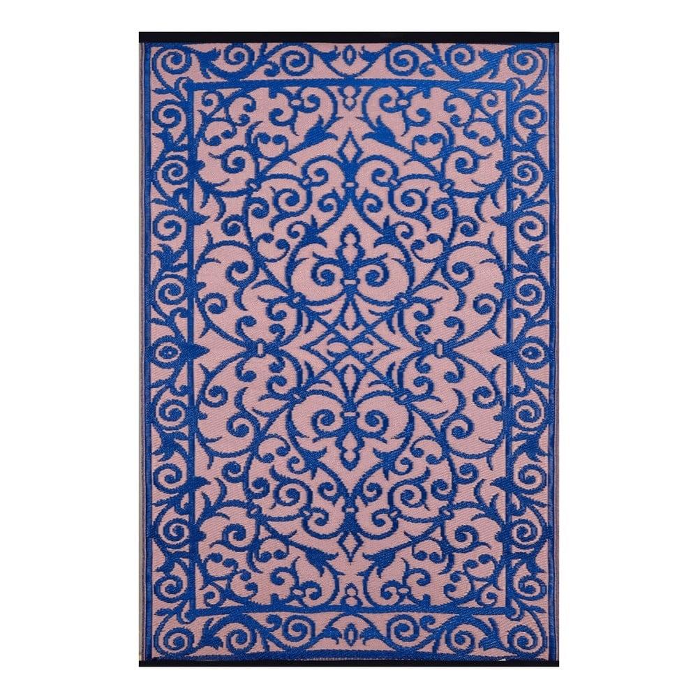 Modro-růžový oboustranný venkovní koberec Green Decore Gala, 90 x 150 cm