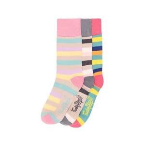 Sada 3 párů barevných ponožek Funky Steps Alexa, vel. 35-39