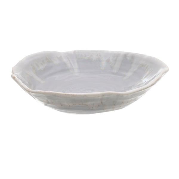 Šedý keramický talíř InArt Amaia