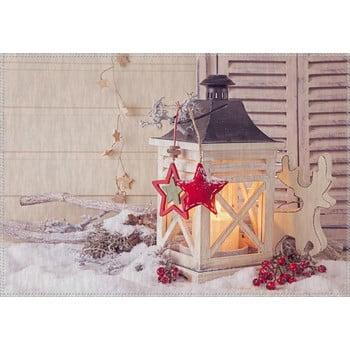 Covor Vitaus Christmas Period Lantern With Small Red Star, 50 x 80 cm de la Vitaus