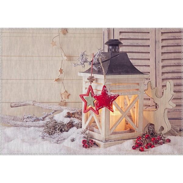 Christmas Period Latern With Small Red Star szőnyeg, 50 x 80 cm - Vitaus