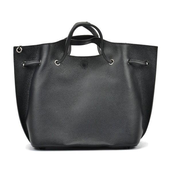 Černá kožená kabelka Mangotti Clarissa Dura