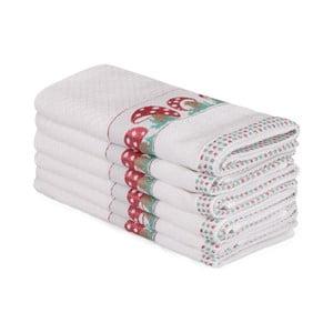 Sada 6 béžových bavlněných ručníků Beyaz Muhna, 30 x 50 cm