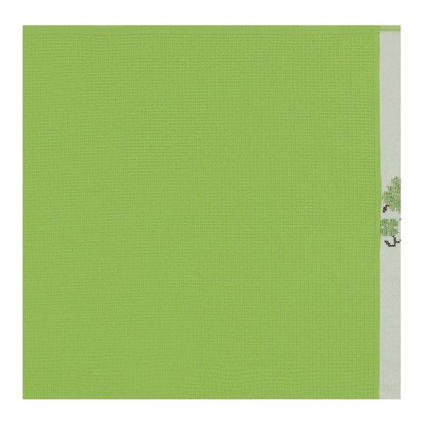 Sada 6 zelených ručníků z čisté bavlny Simplicity, 45 x 70 cm