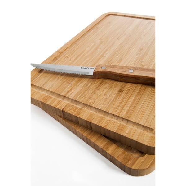 Set 2 tocătoare și cuțite Bambum Talau