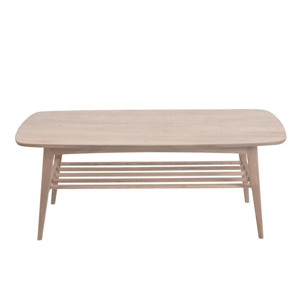 Konferenční stolek s podnožím z dubového dřeva Actona Woodstock,120x60cm
