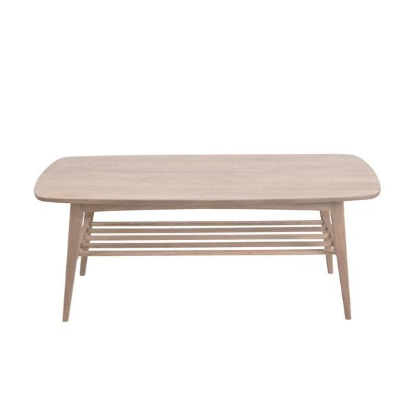 Stolik z konstrukcją z drewna dębowego Actona Woodstock, 120x60 cm