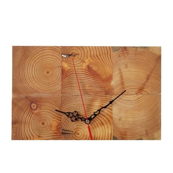 Nástěnné hodiny Woodblock