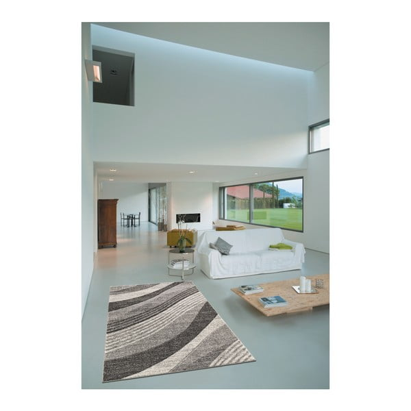 Šedý koberec Webtappeti Intarsio Wave, 160x230 cm