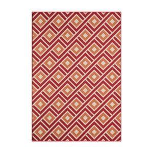 Červený vysoce odolný koberec Webtappeti Greca Red,133x190cm