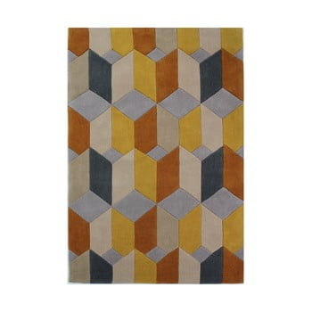 Covor Flair Rugs Infinite Scope Ochre, 160 x 230 cm de la Flair Rugs