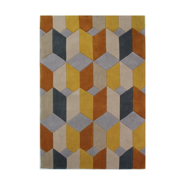 Infinite Scope Ochre szőnyeg, 80 x 150 cm - Flair Rugs
