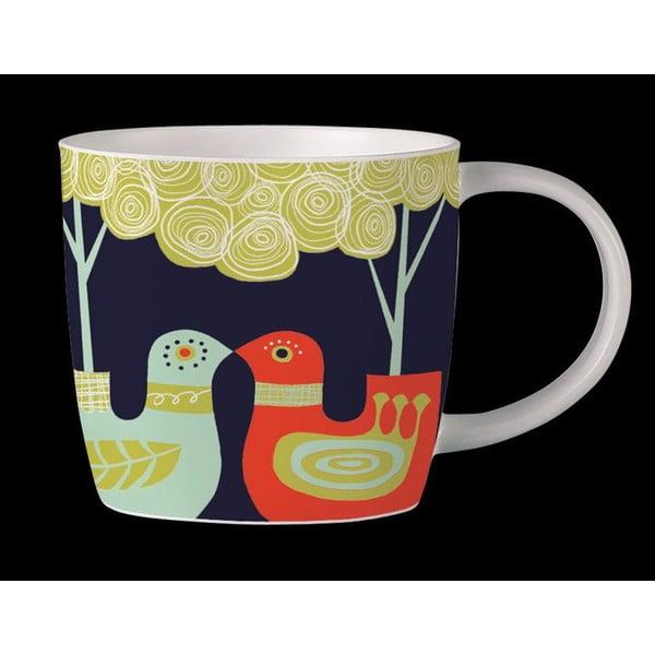 Hrnek z kostního porcelánu Folkland Love Birds