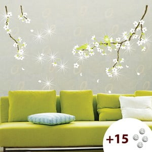 Set samolepky a 15 Swarovski krystalů Fanastick Pear Tree