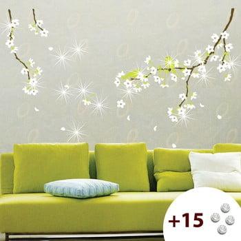 Autocolant cu 15 cristale Swarovski Fanastick Pear Tree de la Ambiance
