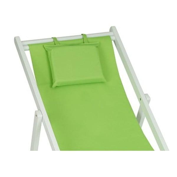 Lehátko Wooden Beach Green, 75x60x140 cm
