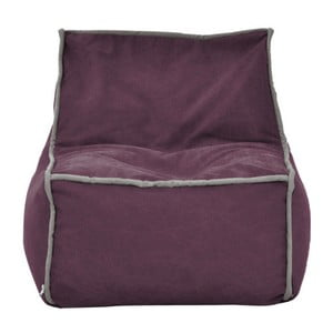 Fialový modulový sedací vak se šedým lemem Poufomania Funky
