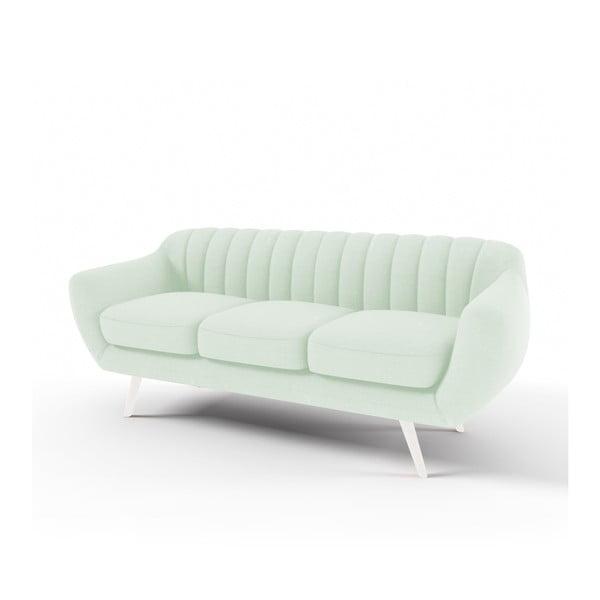 Canapea cu 3 locuri Vivonita Kennet, verde pastel