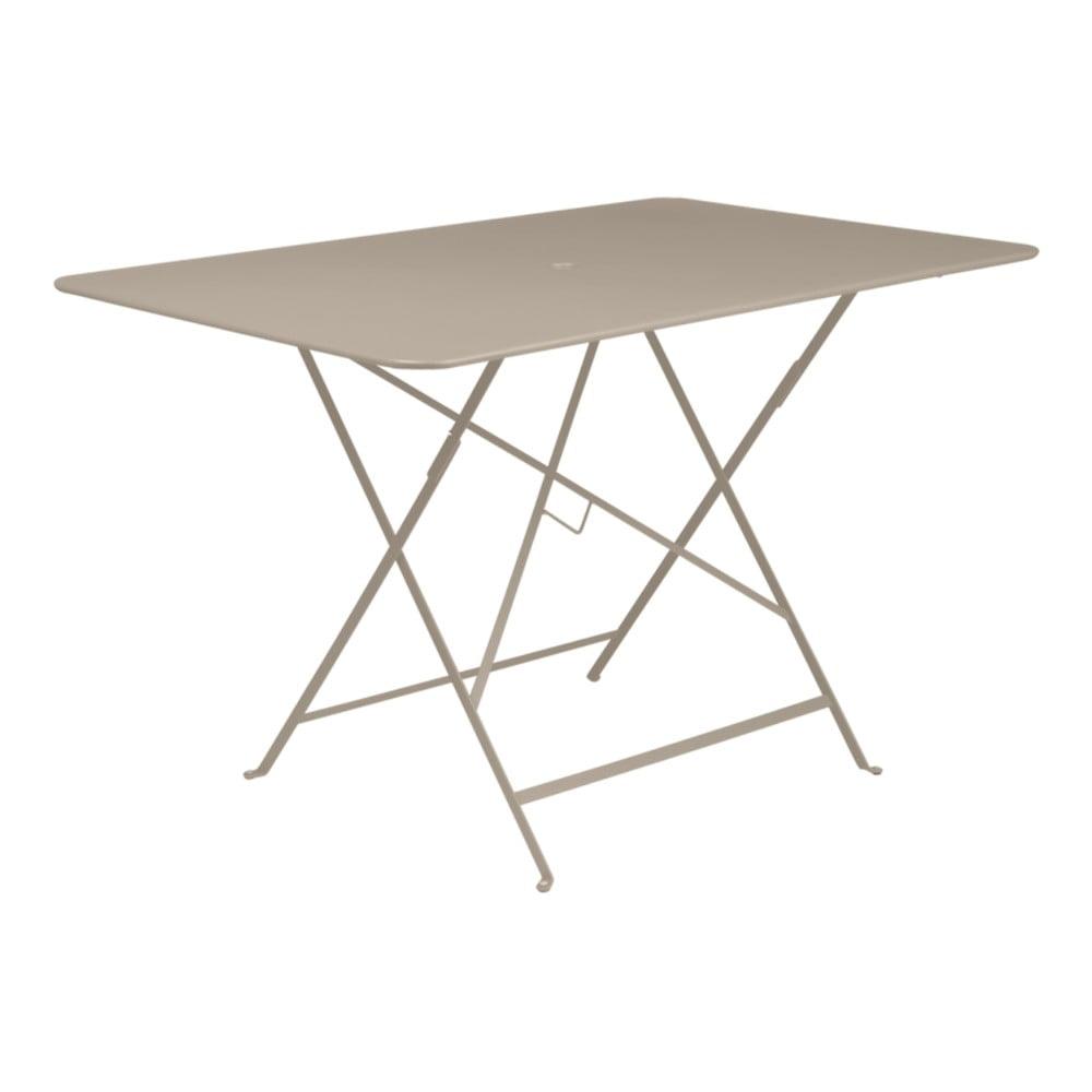 Béžový skládací zahradní stolek Fermob Bistro, 117 x 77 cm