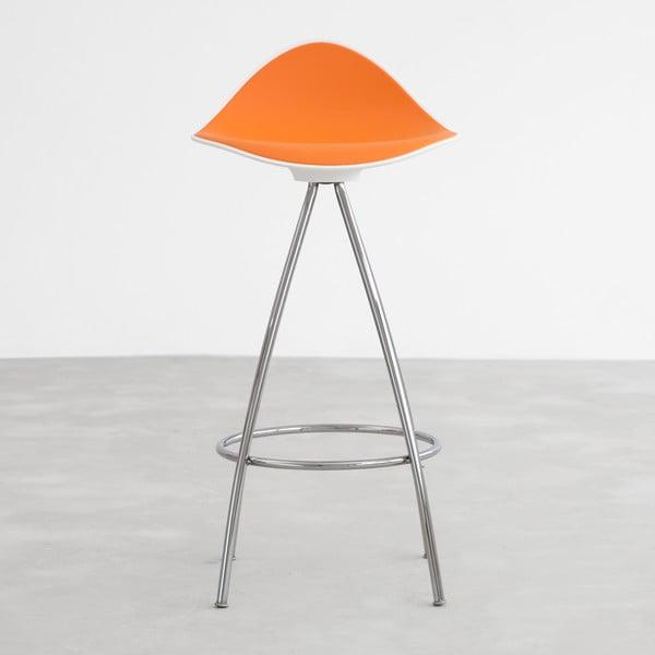 Oranžová  stolička s chromovanými nohami Stua Onda, 66cm