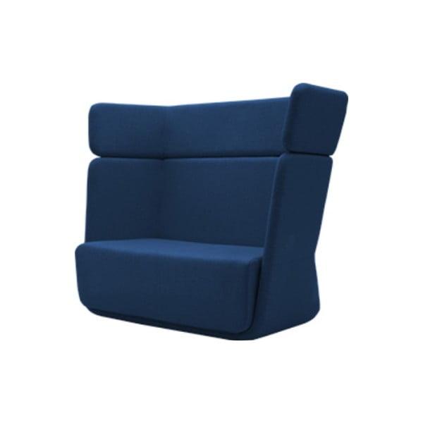 Ciemnoniebieski fotel Softline Basket Felt Melange Dark Blue