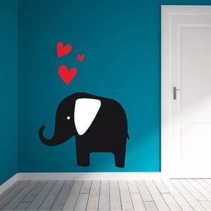 Samolepka na stěnu Elephant Love