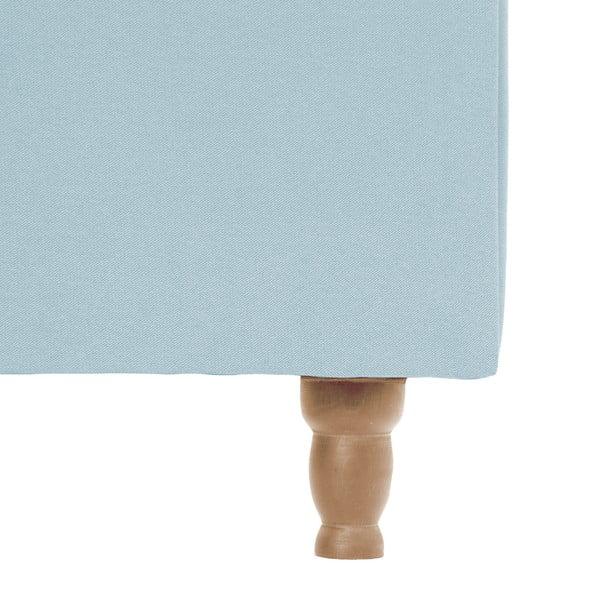 Pastelově modrá postel s přírodními nohami Vivonita Allon,160x200cm