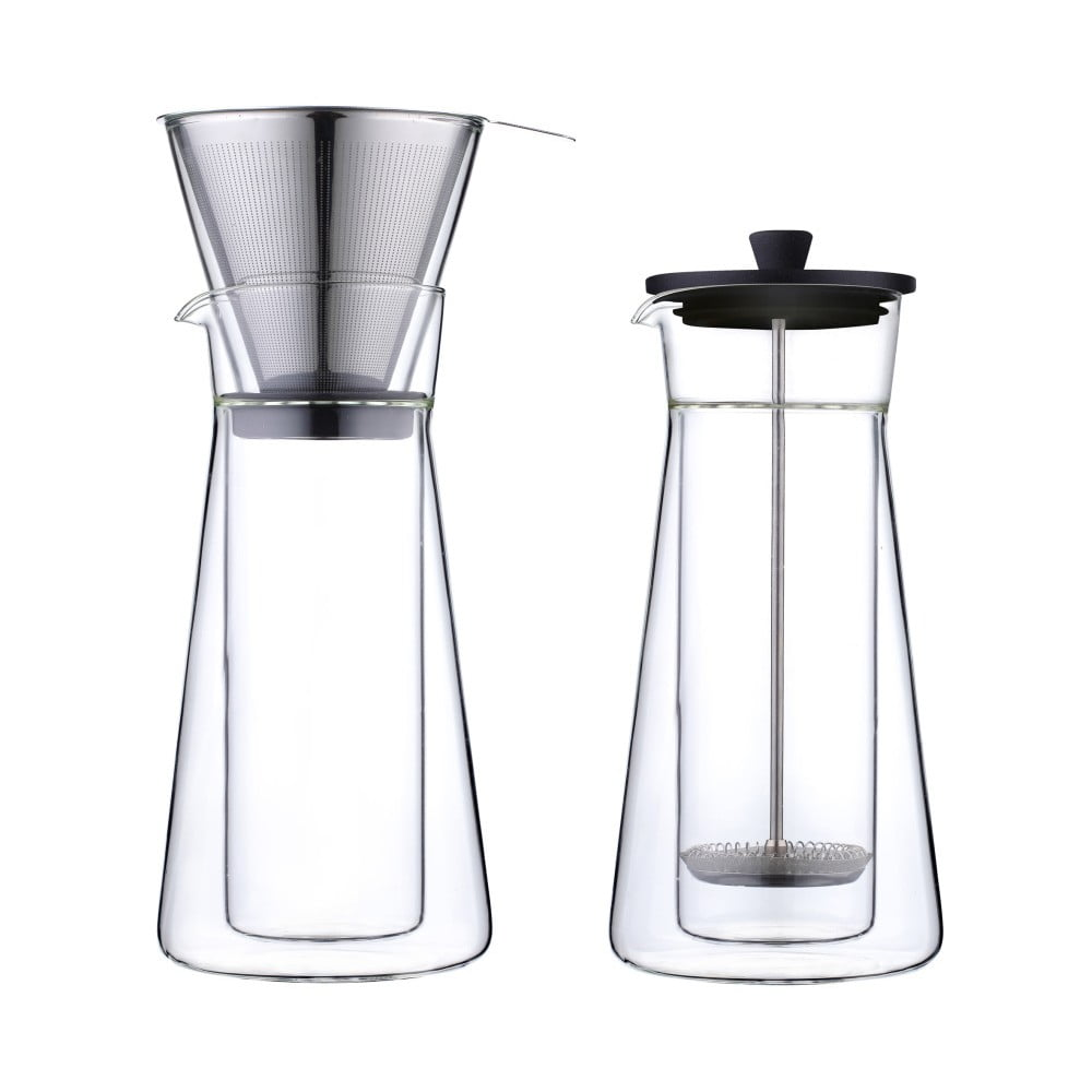 Překapávač a French Press Leopold Vienna Piazza (2v1), 600 ml