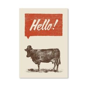 Plakát Hello od Florenta Bodart, 30x42 cm