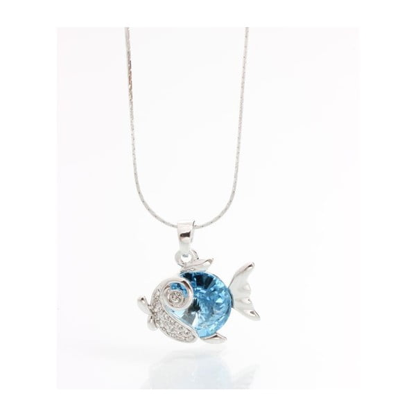 Náhrdelník se Swarovski Elements, modrá rybka