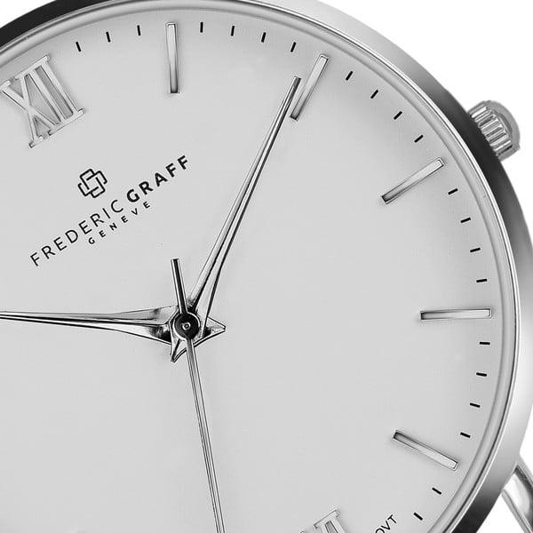 Unisex hodinky s páskem z nerezové oceli ve stříbrné barvě Frederic Graff Silver Dent
