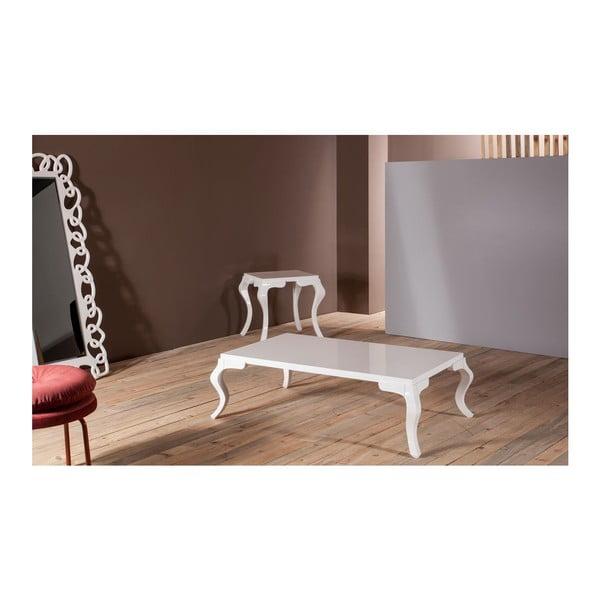 Konferenční stolek Rustik White