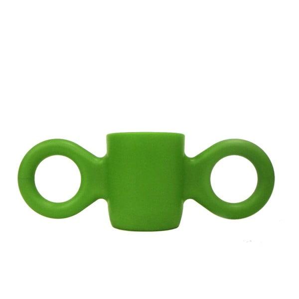 Hrnek Domoor se dvěma uchy, zelený