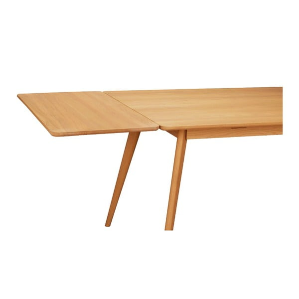 Přírodní prodlužovací díl k jídelnímu stolu z dubového dřeva Folke Yumi