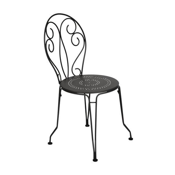 Černá kovová židle Fermob Montmartre