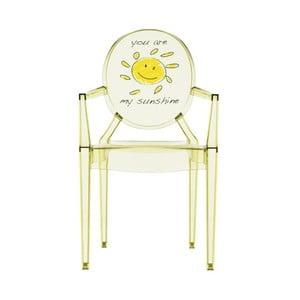 Dětská transparentní židle Kartell Lou Lou Ghost Sun